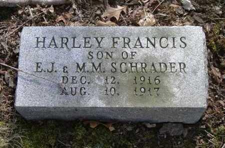 SCHRADER, HARLEY FRANCIS - Hocking County, Ohio | HARLEY FRANCIS SCHRADER - Ohio Gravestone Photos
