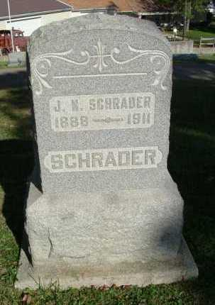 SCHRADER, J. N. - Hocking County, Ohio | J. N. SCHRADER - Ohio Gravestone Photos
