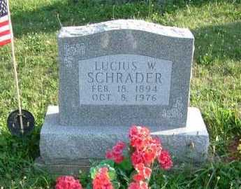 SCHRADER, LUCIUS W. - Hocking County, Ohio | LUCIUS W. SCHRADER - Ohio Gravestone Photos