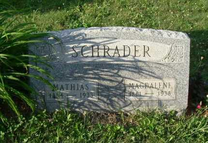 SCHRADER, MAGDALENE - Hocking County, Ohio | MAGDALENE SCHRADER - Ohio Gravestone Photos