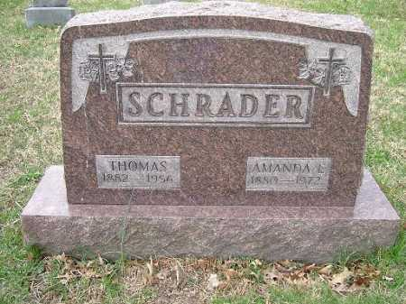SCHRADER, THOMAS - Hocking County, Ohio | THOMAS SCHRADER - Ohio Gravestone Photos