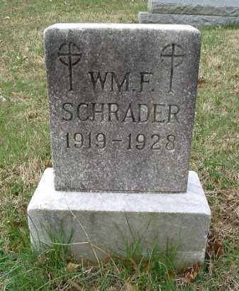 SCHRADER, WILLIAM F. - Hocking County, Ohio | WILLIAM F. SCHRADER - Ohio Gravestone Photos