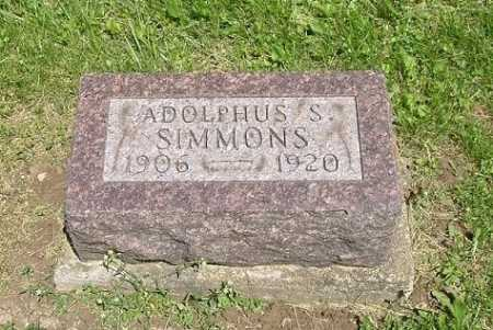 SIMMONS, ADOLPHUS S. - Hocking County, Ohio | ADOLPHUS S. SIMMONS - Ohio Gravestone Photos