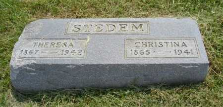 STEDEM, CHRISTINA - Hocking County, Ohio | CHRISTINA STEDEM - Ohio Gravestone Photos