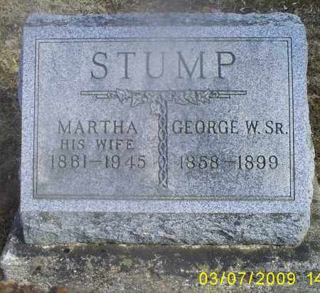 STUMP, GEORGE W. SR. - Hocking County, Ohio | GEORGE W. SR. STUMP - Ohio Gravestone Photos