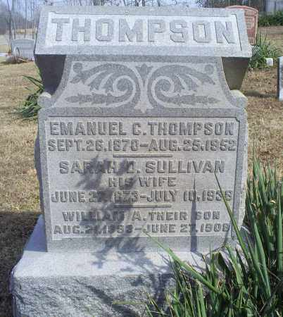 THOMPSON, WILLIAM A. - Hocking County, Ohio | WILLIAM A. THOMPSON - Ohio Gravestone Photos