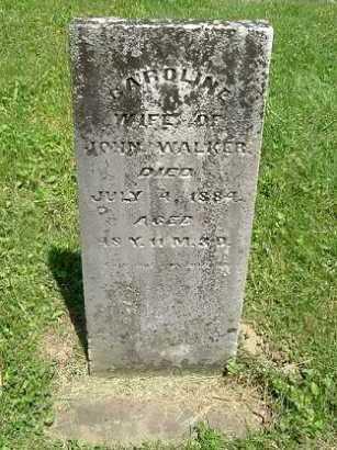 WALKER, CAROLINE - Hocking County, Ohio | CAROLINE WALKER - Ohio Gravestone Photos