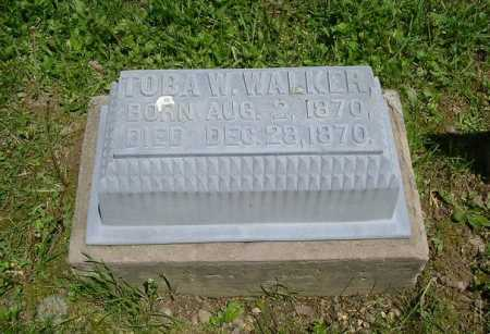 WALKER, TOBA W. - Hocking County, Ohio | TOBA W. WALKER - Ohio Gravestone Photos