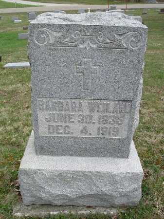WEILAND, BARBARA - Hocking County, Ohio | BARBARA WEILAND - Ohio Gravestone Photos