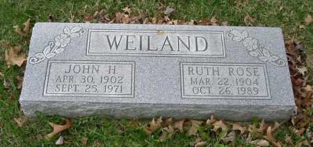 ROSE WEILAND, RUTH LODEMA - Hocking County, Ohio | RUTH LODEMA ROSE WEILAND - Ohio Gravestone Photos