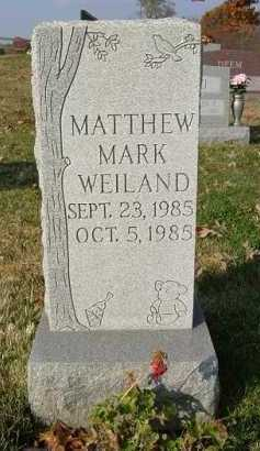 WEILAND, MATTHEW MARK - Hocking County, Ohio | MATTHEW MARK WEILAND - Ohio Gravestone Photos
