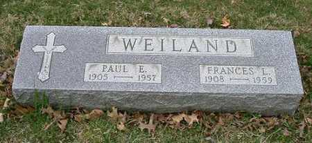 WEILAND, FRANCES L. - Hocking County, Ohio | FRANCES L. WEILAND - Ohio Gravestone Photos
