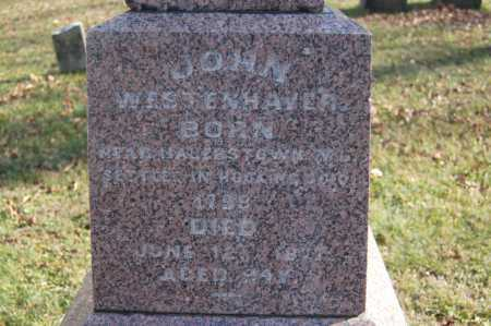 WESTENHAVER, JOHN - Hocking County, Ohio | JOHN WESTENHAVER - Ohio Gravestone Photos