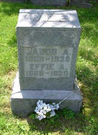WILE, EFFIE A. - Hocking County, Ohio | EFFIE A. WILE - Ohio Gravestone Photos