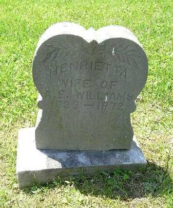 WILLIAMS, HENRIETTA - Hocking County, Ohio | HENRIETTA WILLIAMS - Ohio Gravestone Photos