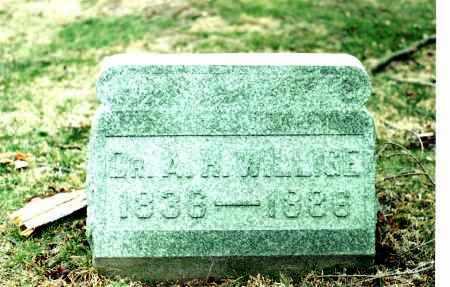WILLIGE, DR. AUGUSTUS HEINRICH WILHELM - Hocking County, Ohio | DR. AUGUSTUS HEINRICH WILHELM WILLIGE - Ohio Gravestone Photos