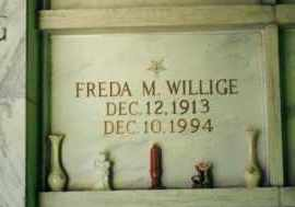 WILLIGE, FREDA M. - Hocking County, Ohio | FREDA M. WILLIGE - Ohio Gravestone Photos
