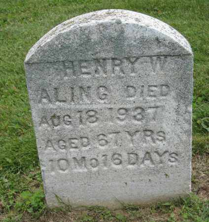 ALING, HENRY W - Holmes County, Ohio | HENRY W ALING - Ohio Gravestone Photos