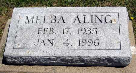 ALING, MELBA - Holmes County, Ohio | MELBA ALING - Ohio Gravestone Photos