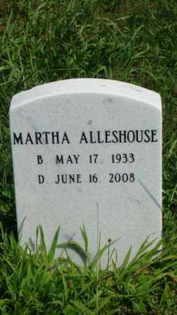 ALLESHOUSE, MARTHA - Holmes County, Ohio | MARTHA ALLESHOUSE - Ohio Gravestone Photos