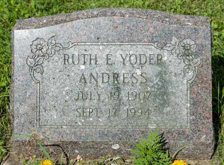 YODER ANDRESS, RUTH E. - Holmes County, Ohio | RUTH E. YODER ANDRESS - Ohio Gravestone Photos