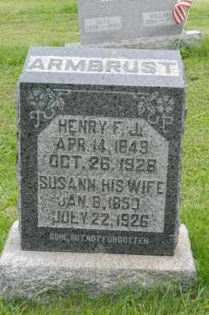 ARMBRUST, SUSANN - Holmes County, Ohio | SUSANN ARMBRUST - Ohio Gravestone Photos