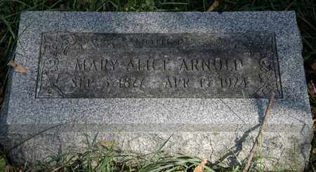 ARNOLD, MARY ALICE - Holmes County, Ohio | MARY ALICE ARNOLD - Ohio Gravestone Photos