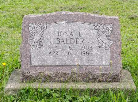 BERNHARDT BALDER, IONA L. - Holmes County, Ohio | IONA L. BERNHARDT BALDER - Ohio Gravestone Photos