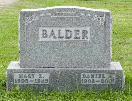 BALDER, MARY K. - Holmes County, Ohio | MARY K. BALDER - Ohio Gravestone Photos