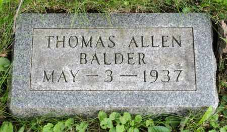 BALDER, THOMAS ALLEN - Holmes County, Ohio | THOMAS ALLEN BALDER - Ohio Gravestone Photos
