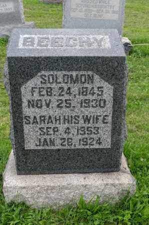 BEECHY, SOLOMON - Holmes County, Ohio | SOLOMON BEECHY - Ohio Gravestone Photos