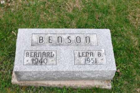BENSON, BERNARD - Holmes County, Ohio | BERNARD BENSON - Ohio Gravestone Photos