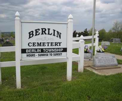 BERLIN TOWNSHIP CEMETERY, SIGN - Holmes County, Ohio | SIGN BERLIN TOWNSHIP CEMETERY - Ohio Gravestone Photos