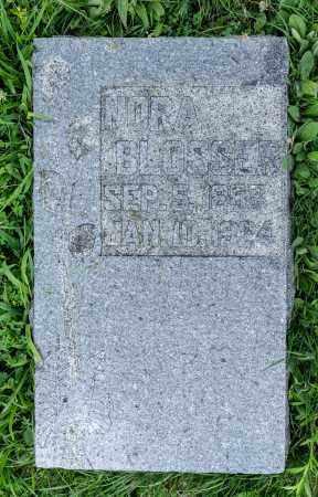 BLOSSER, NORA - Holmes County, Ohio | NORA BLOSSER - Ohio Gravestone Photos