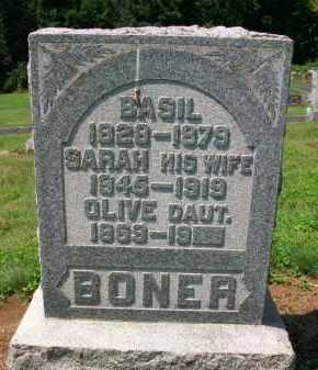 BONER, SARAH - Holmes County, Ohio | SARAH BONER - Ohio Gravestone Photos