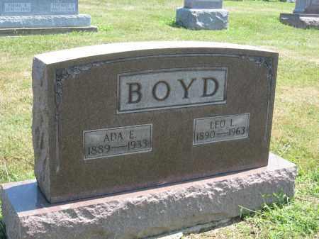 BOYD, ADA E - Holmes County, Ohio | ADA E BOYD - Ohio Gravestone Photos