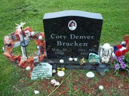 BRACKEN, COTY DENVER - Holmes County, Ohio   COTY DENVER BRACKEN - Ohio Gravestone Photos