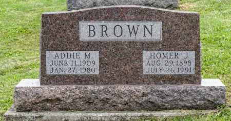 BROWN, HOMER J. - Holmes County, Ohio | HOMER J. BROWN - Ohio Gravestone Photos