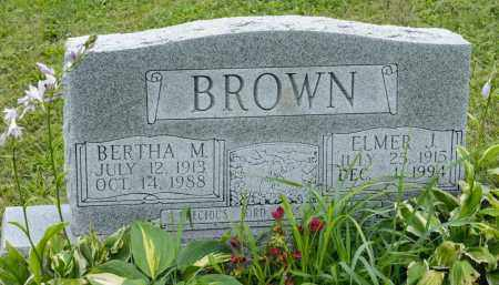 BROWN, BERTHA M. - Holmes County, Ohio | BERTHA M. BROWN - Ohio Gravestone Photos