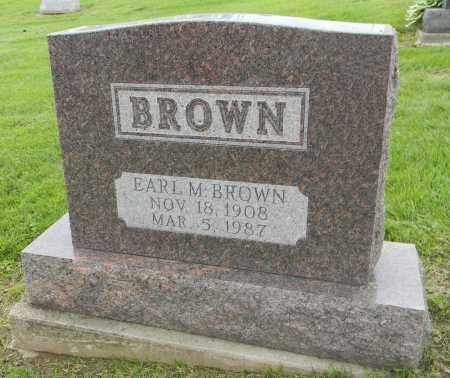 BROWN, EARL M - Holmes County, Ohio | EARL M BROWN - Ohio Gravestone Photos