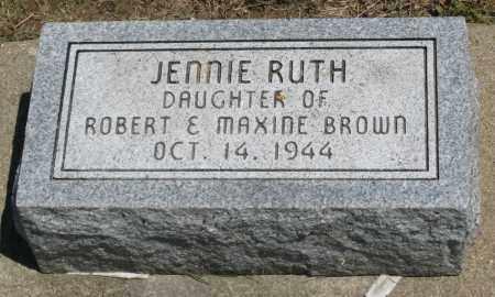 BROWN, JENNIE RUTH - Holmes County, Ohio | JENNIE RUTH BROWN - Ohio Gravestone Photos