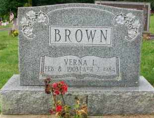 BROWN, VERNA L. - Holmes County, Ohio | VERNA L. BROWN - Ohio Gravestone Photos