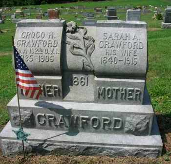 CRAWFORD, SARAH A. - Holmes County, Ohio | SARAH A. CRAWFORD - Ohio Gravestone Photos
