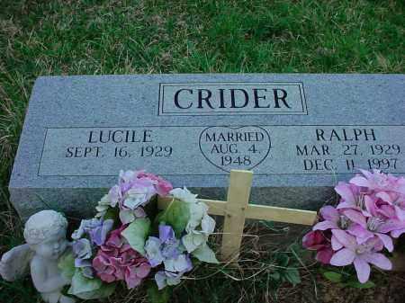 CRIDER, RALPH - Holmes County, Ohio | RALPH CRIDER - Ohio Gravestone Photos