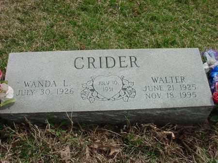 CRIDER, WANDA L - Holmes County, Ohio | WANDA L CRIDER - Ohio Gravestone Photos