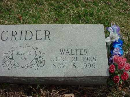 CRIDER, WALTER - Holmes County, Ohio | WALTER CRIDER - Ohio Gravestone Photos