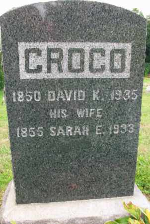 CROCO, DAVID K. - Holmes County, Ohio | DAVID K. CROCO - Ohio Gravestone Photos