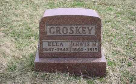 CROSKEY, ELLA - Holmes County, Ohio | ELLA CROSKEY - Ohio Gravestone Photos