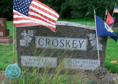 CROSKEY, VALLE THOMAS - Holmes County, Ohio | VALLE THOMAS CROSKEY - Ohio Gravestone Photos