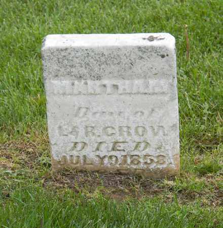 CROW, MARTHA M - Holmes County, Ohio | MARTHA M CROW - Ohio Gravestone Photos